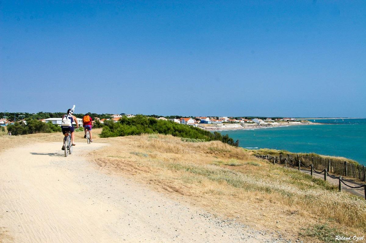 Piste cyclables en bord de mer Brétignolles sur Mer