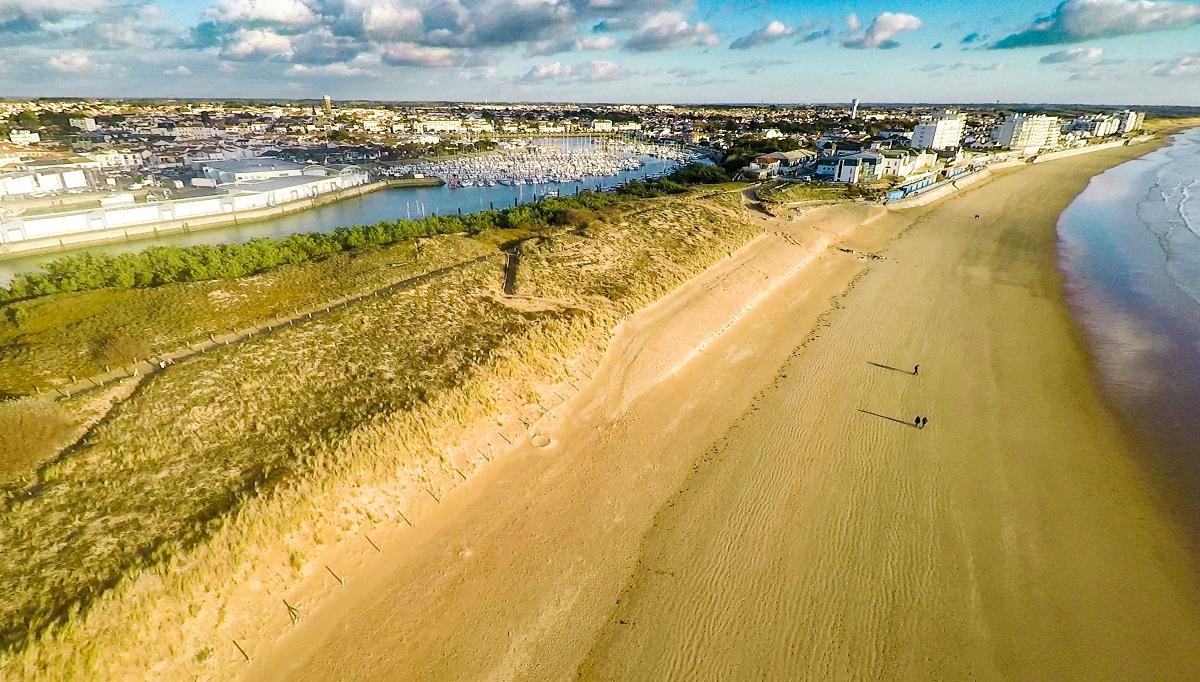 Vue de la plage de Saint Gilles Croix de Vie