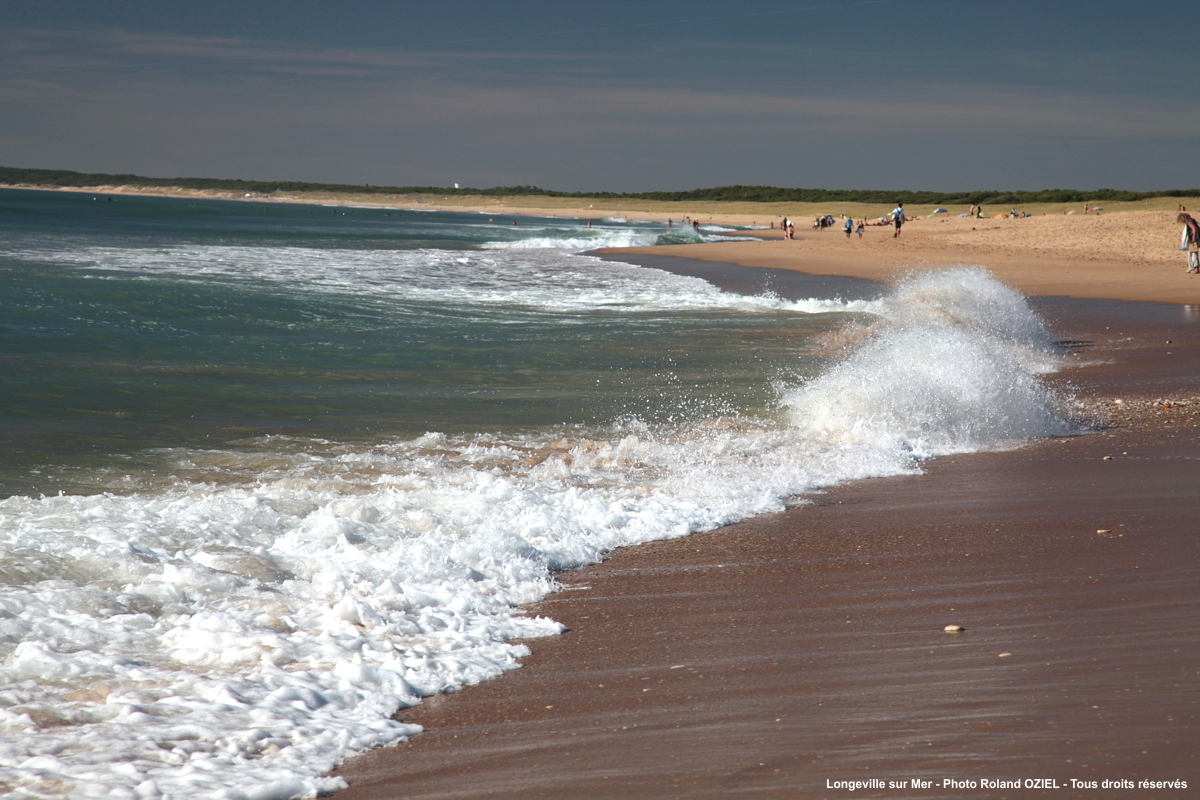 Plage des Conches à Longeville sur Mer en Vendée proche des campings
