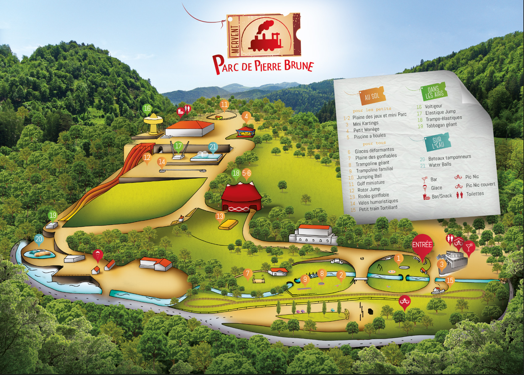 Parc de Loisirs de Pierre Brune en Sud Vendée pour toute la famille.