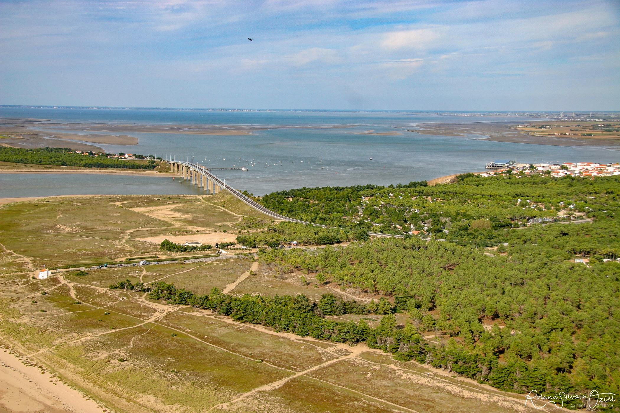 La Barre de Monts en Vendée la forêt en vue aérienne