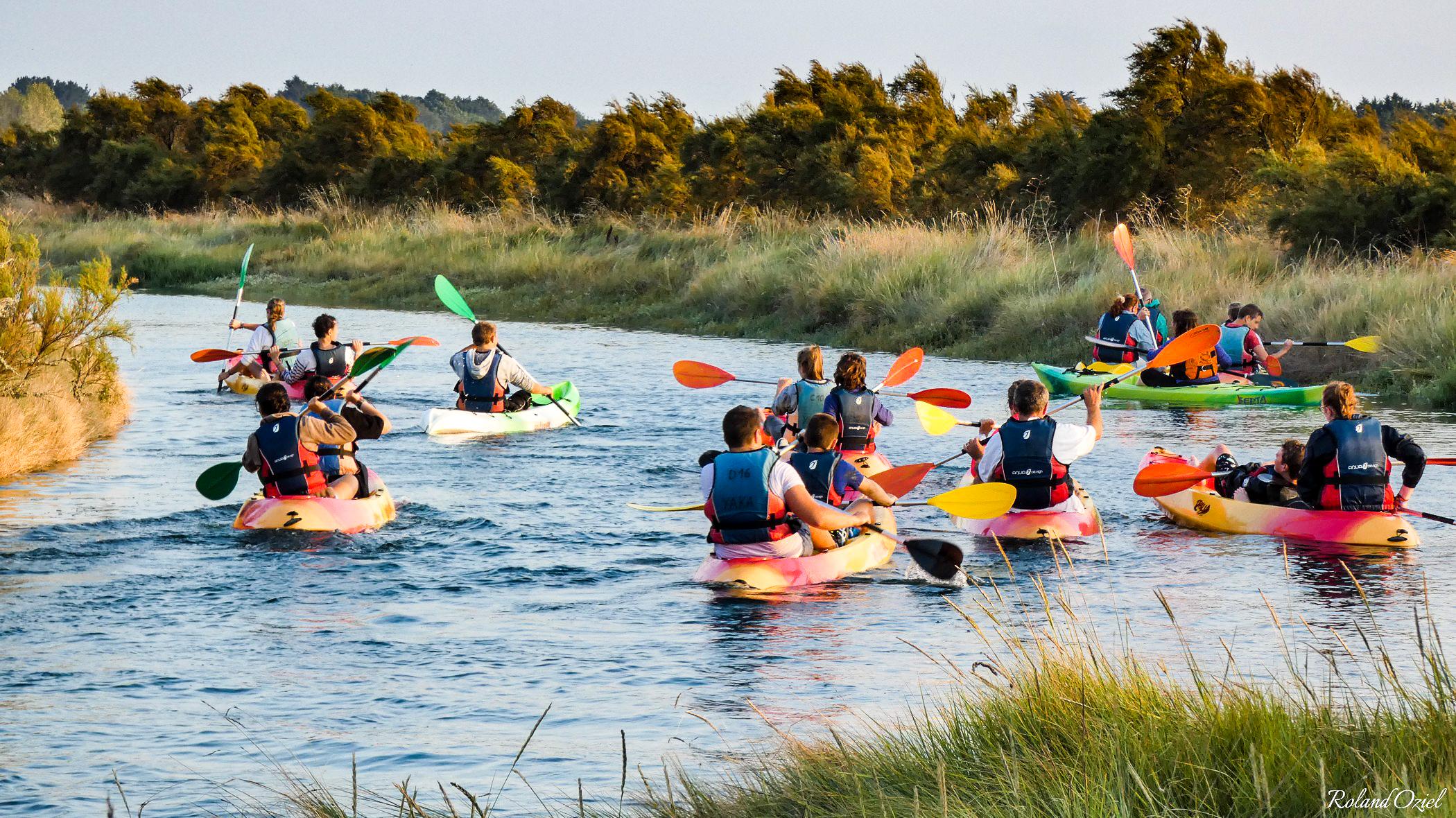Canoe au coeur des marais de l'Ile d'Olonne une activité nautique praticable en Vendée