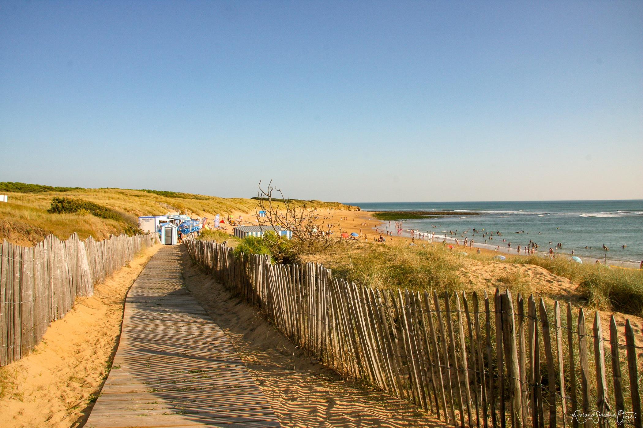 accès à la plage de Jard sur Mer