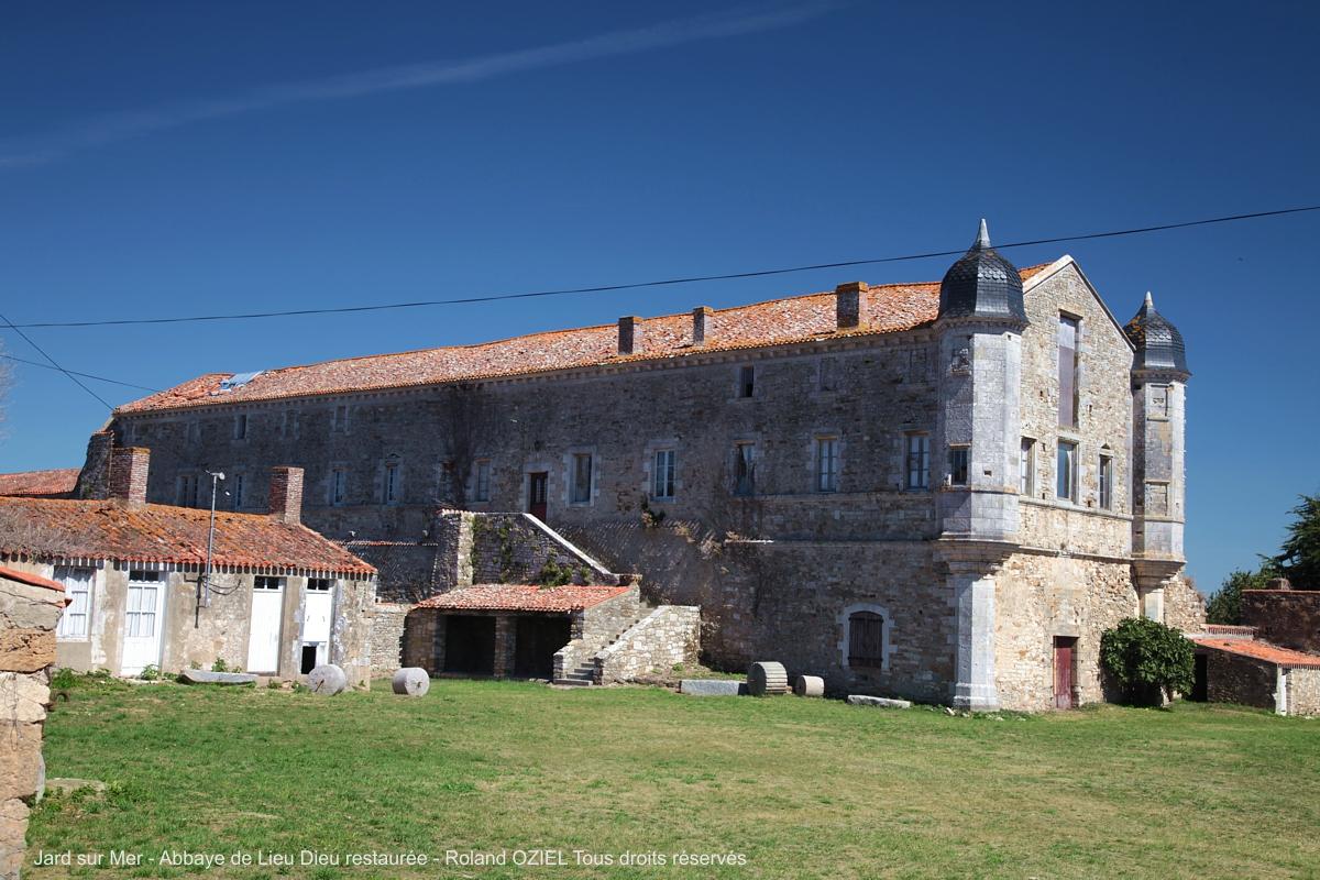 Abbaye de Lieu Dieu Jard sur Mer en Vendée