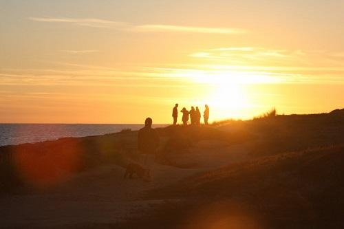 coucher de soleil à bretignolles-sur-mer